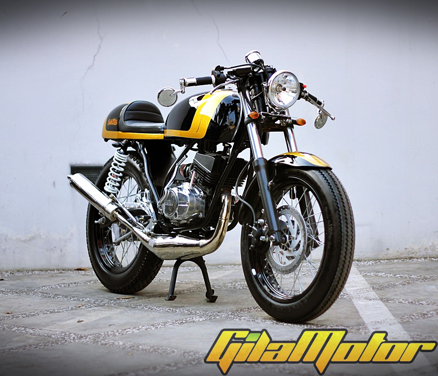 warah modif RX-Z Cafe Racer black yellow handal title=